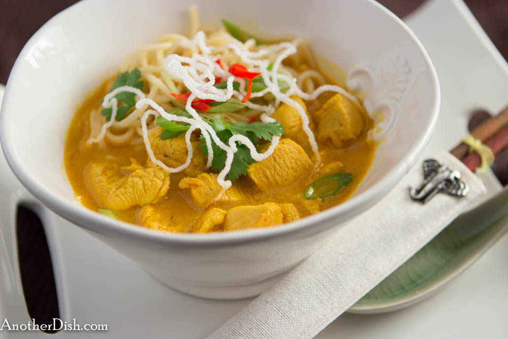 Chiang Mai Chicken Noodles (Khao Soi Gai) | AnotherDish.com
