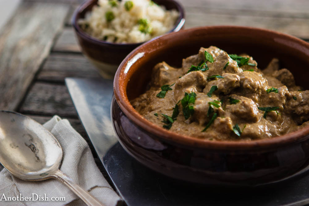 Spicy Lamb Stew in a Cashew Cream Sauce