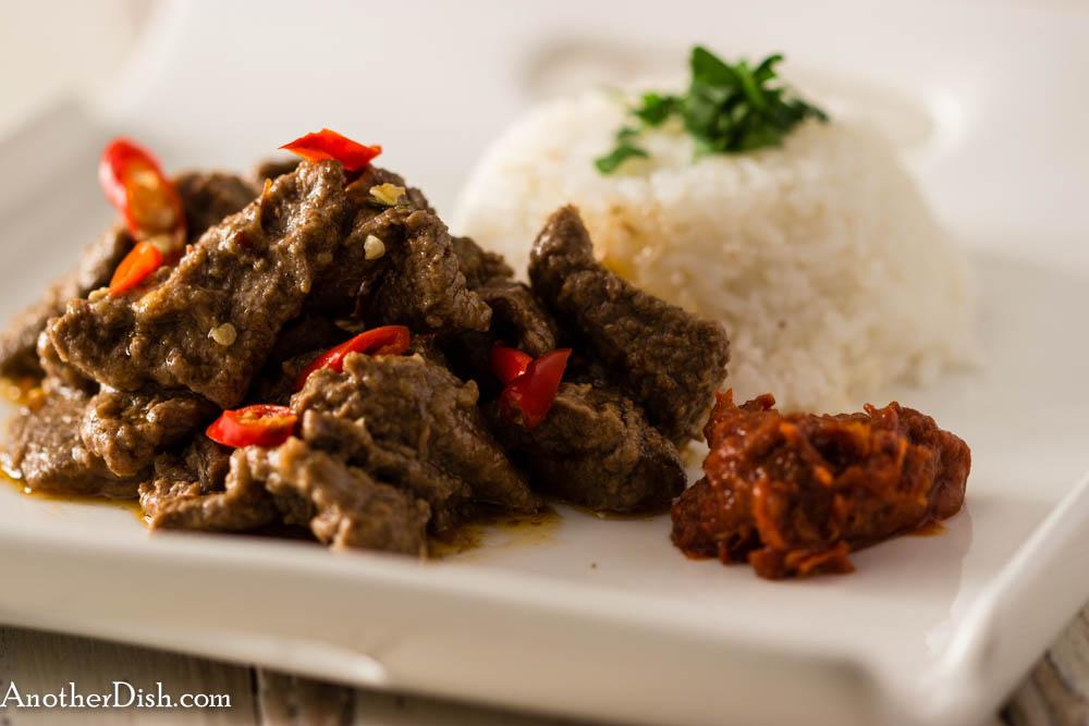 Spicy Indonesian Coconut Beef Dendeng Santan